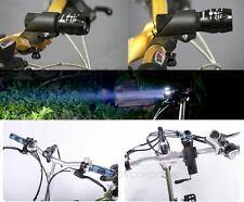 Black CREE Q5 LED Flashlight Front Head LIGHT Circle Bike BICYCLE With Holder