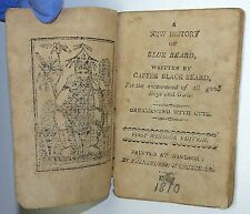 MINIATURE New History Of Blue Beard Written By Gaffer Black Beard WOODCUTS 1810