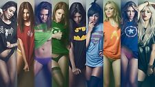 "MARVEL T-SHIRTS - SEXY WOMEN Wall Art Large Canvas Picture 20""x30"""