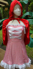Dreamgirl Reversible Short Sexy Costume Dorothy or Red Riding Hood w/Basket Sm