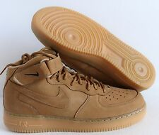 NIKE AIR FORCE 1 MID 07 PRM PREMIUM QS FLAX-WHEAT SZ 9.5 [715889-200]
