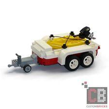 CB CUSTOM Modell Schlauchboot mit Trailer  aus LEGO® Steinen z.B. für 10220 T1
