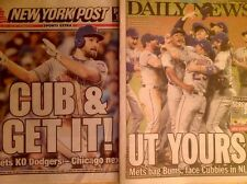 NEW YORK METS 2015 NLDS CHAMPS NEW YORK POST & DAILY NEWSPAPERS 10/16/15 DODGERS