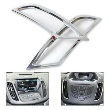 2pcs Chrome Dashboard Air Vent Outlet Cover Trim for Ford KUGA ESCAPE 2013- 2015