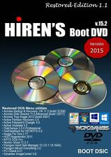 HIRENS BOOT DVD 15.2 RESTORED EDITION 1.1 COMPLETE REPAIR UTILITY SOFTWARE