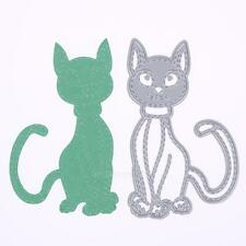 Cat Metal Cutting Dies Stencil DIY Scrapbooking Embossing Paper Card Craft Decor