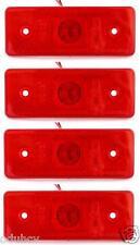 4 unidades x 12V LED rojo Parte Trasera Trasera Luces De Marcaje Indicadores