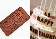 New Double Alphabet Silicone Mold Fondant Mat For Candy/Chocolate/ice/Cake Bakin