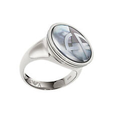 Emporio Armani Ladies Ring Size 8 U.K P Stainless Steel Silver EGS1508040 New