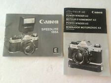 2 VINTAGE 1980 CANON Camera Instruction Manuals PowerWinder A2 Speedlite 188A