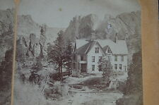 1870s Stereoview GLEN EYRIE Colorado Springs Founder Gen. William J Palmer HOME!