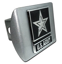Army Star Brushed Chrome Trailer Hitch Cover High Quality Made in USA (NEW)