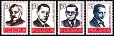 Polska Poland 1978 Fi 2451-54 Mi 2598-2601 MNH Działacze polskiego ruchu robotni
