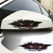 2x Scary 3D Eye Peeking Monster Simulation Leopard Sticker Decal Auto Car Window