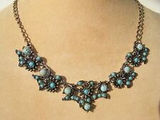 CHRISTIAN DIOR FAUX TURQUOISE NECKLACE