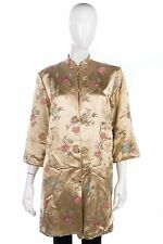 Fabulous vintage peony Chinese silk evening coat size M