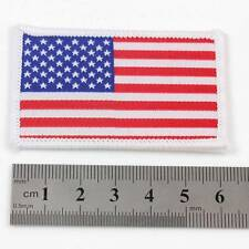 USA IRON ON 6.5cm x 4cm EMBROIDERED AMERICAN NATIONAL FLAG PATCH BADGE 094