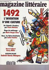 le magazine litteraire fevrier 1992 - 296 - 1492 l'invention d'une culture
