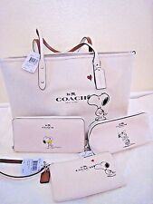 COACH X Peanuts SNOOPY Ltd. Ed Calf Leather Tote , Cosmetic Clutch Wallet set