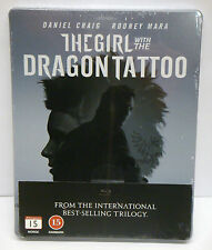 The Girl With The Dragon Tattoo Blu-ray STEELBOOK (Daniel Craig, Rooney) - NEW