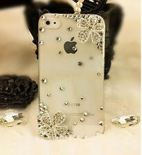 Handmade Diagonal Snowflake Crystal Finished Case cover for iPhone 4 4S NEW #~33
