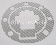 Adesivo Tappo Serbatoio SUZUKI SV650 SV650S 1999-2002 (Carbonio Argento) Cod.519