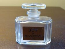 Vintage Joy De Jean Patou Paris Bottle with Glass Stopper