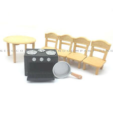 Sylvanian Families Table & Chair & Oven Set For DollHouse dining room Furniture