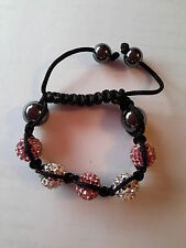 KIDS CRYSTAL  DISCO BALL FRIENDSHIP SHAMBALLA BRACELET CHILDREN