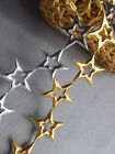 Star Shiny Christmas Decorations Winter  Ornaments trim ribbon cut out Gold