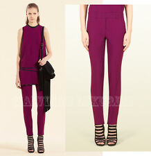 GUCCI PANTS FUCHSIA SATIN HOLIDAY SKINNY FIT TROUSERS sz IT 42 / US 6