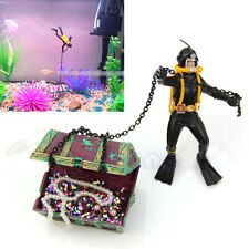 Hunter Diver  Action Treasure Figure Fish Tank Ornament Aquarium Decor Landscape