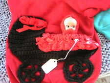 BABY BUGGY with removable CUPIE DOLL *OOAK Size 3T RED sweatshirt for a girl