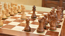 Rare 2-1/2 Inch Shesham Wood Staunton Chess Set Board 4Q D0112 Free P&P