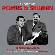 THE SONGS OF POMUS & SHUMAN - 75 ORIGINAL CLASSICS (NEW SEALED 3CD)