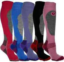 4 PAIRS HIGH PERFORMANCE LADIES SKI SOCKS - LONG HOSE THERMAL SOCKS SIZE 4-7