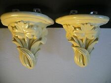 '30s American Arts & Crafts Corbels Sconces Brackets Ivory Painted Plaster