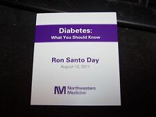 CHICAGO CUBS RON SANTO STATUE DAY DIABETES PAMPHLET WRIGLEY SGA GIVEAWAY 8/10/11