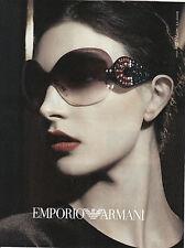 """Publicité Contemporaine """" Mode Lunette Emporio - Armani   2013 ( P. 19 )"""