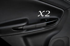 BLACK STITCHING FITS ALFA ROMEO GIULIETTA 10-13+ 2X REAR HANDLE LEATHER COVERS