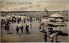 Cartolina Formato Piccolo - Barletta - Spiaggia Di Levante Viaggiata
