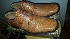 David Eden HONEY (GOLD) ALLIGATOR (crocodile) size 13 men's  shoes FREE SHIPPING