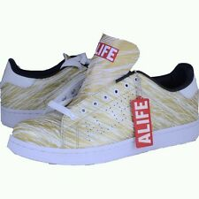 ALIFE Scribble Cup Barneys gold/white sneakers athletic shoes sz 9.5 new