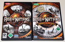 RISE OF NATIONS & EXPANSION THRONES & PATRIOTS GOLD EDITION PC CD ROM