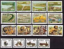 Ciskei 1989 set of 4 sets unhinged mint