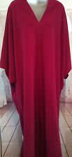 ICONIC 70S Halston Vintage DORIAN CACOON CAFTAN Red Maxi Dress Gown ONE SIZE