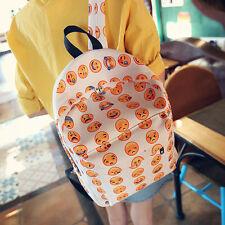 Unisex Smiley Funny Emoji Face Printing Backpack Satchel Shoulders Bag Schoolbag