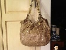 Brahmin Croc Embossed Handbag Shoulder Bag