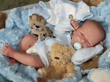 "AWW! BABY BOY ""Little Guy""! Preemie Life Like Reborn Pacifier Doll + Extras"