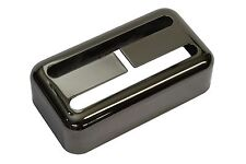 """Humbucker size Filtertron® pickup cover """"Smoked Black Nickel"""" fits Lollartron"""